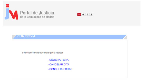 Cita registro civil madrid portal de justicia comunidad for Oficina registro comunidad de madrid